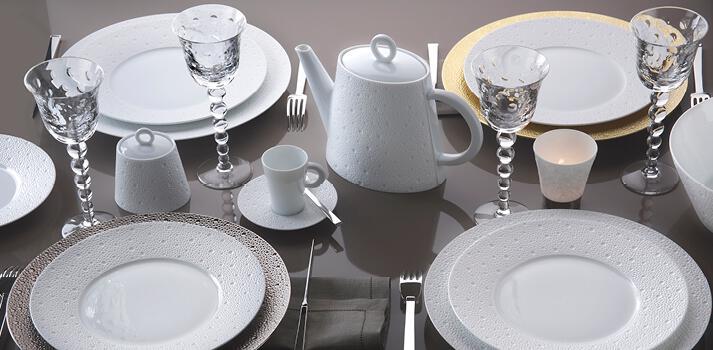 Service de table blanc design en image - Service de table design ...