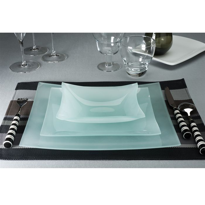 service de table en verre