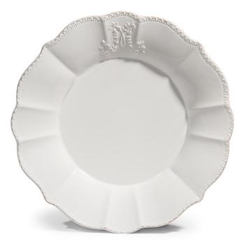 Assiette plate blanche pas cher | Les tournesols