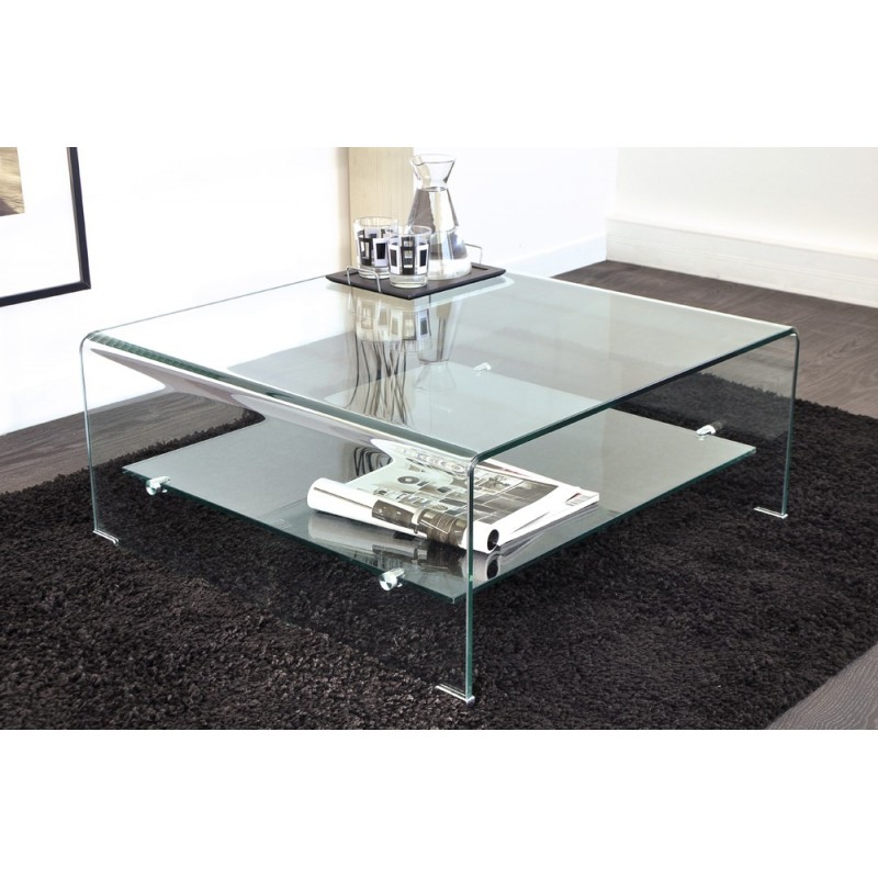 Ensemble de verre design en image for Meuble tv et table basse