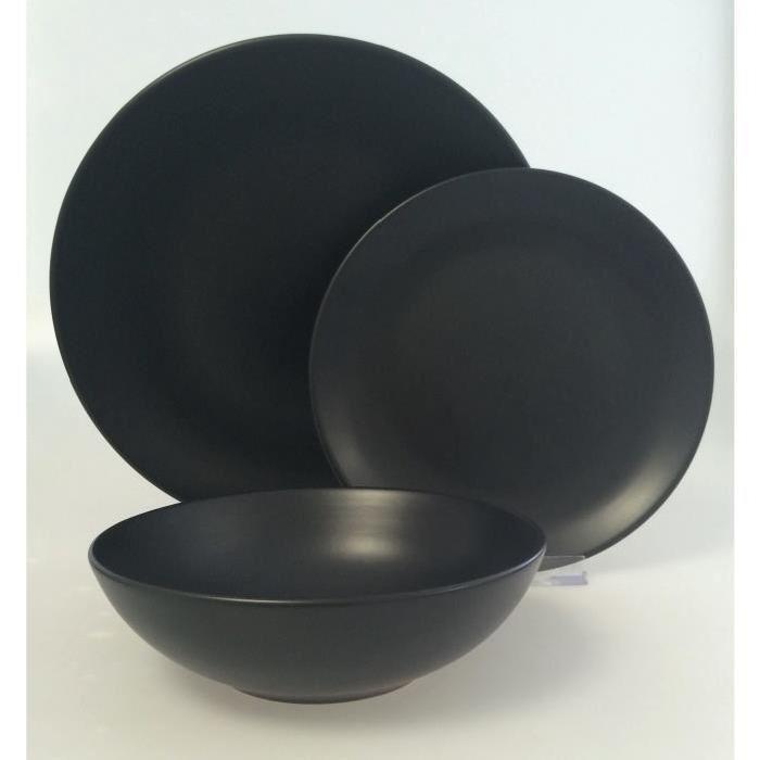 Service vaisselle noir design en image - Vaisselle de table pas cher ...