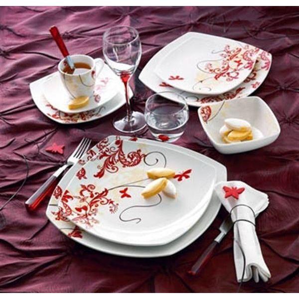 Service assiette luminarc design en image - Service de table design ...