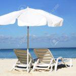 Chaises longues de plage
