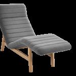 Chaise longue tissu