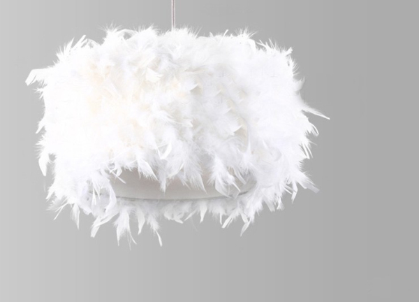 plafonnier plume design en image. Black Bedroom Furniture Sets. Home Design Ideas