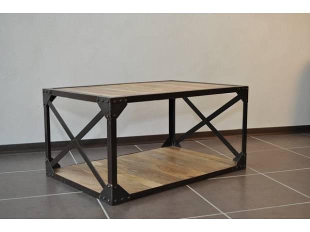 Table basse bois et metal pas cher design en image - Arts de la table pas cher ...
