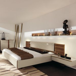 tete de lit avec table de chevet integre design en image. Black Bedroom Furniture Sets. Home Design Ideas