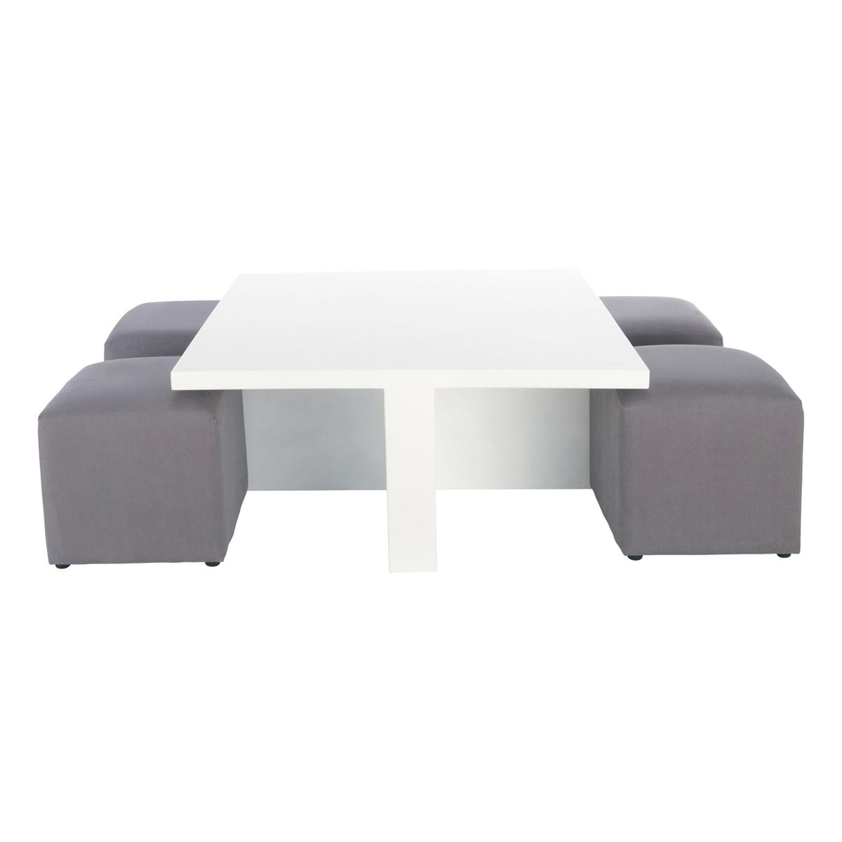 table basse avec pouf design en image. Black Bedroom Furniture Sets. Home Design Ideas
