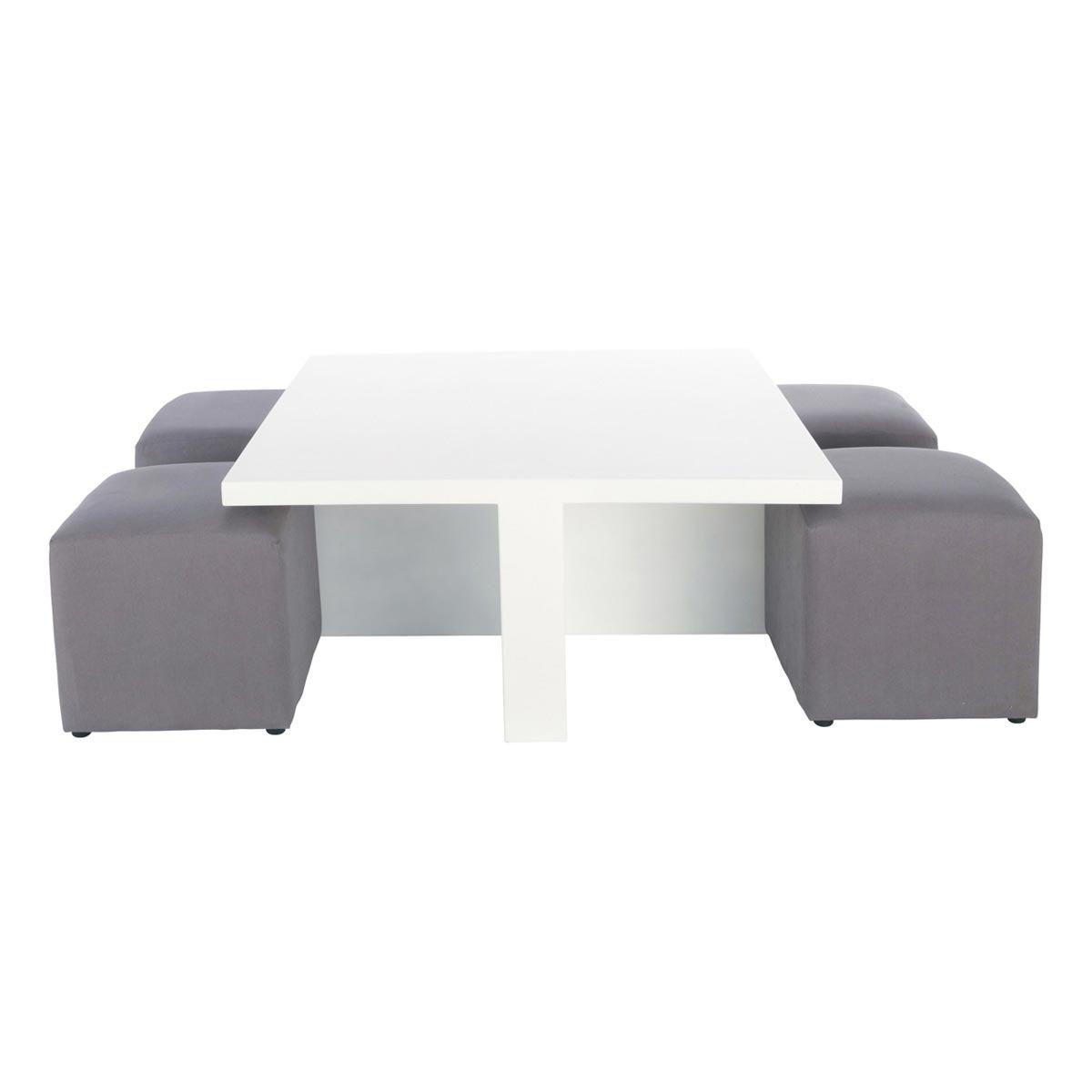 Table basse avec pouf design en image - Table basse s avec pouf ...