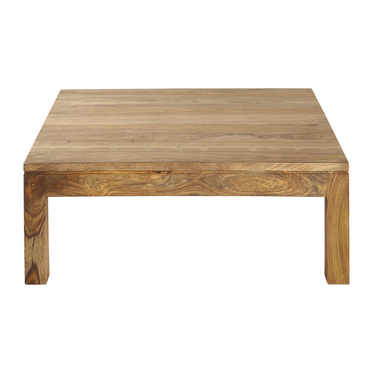 table basse carr e en bois massif design en image. Black Bedroom Furniture Sets. Home Design Ideas