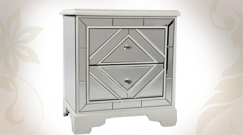 table de chevet miroir design en image. Black Bedroom Furniture Sets. Home Design Ideas