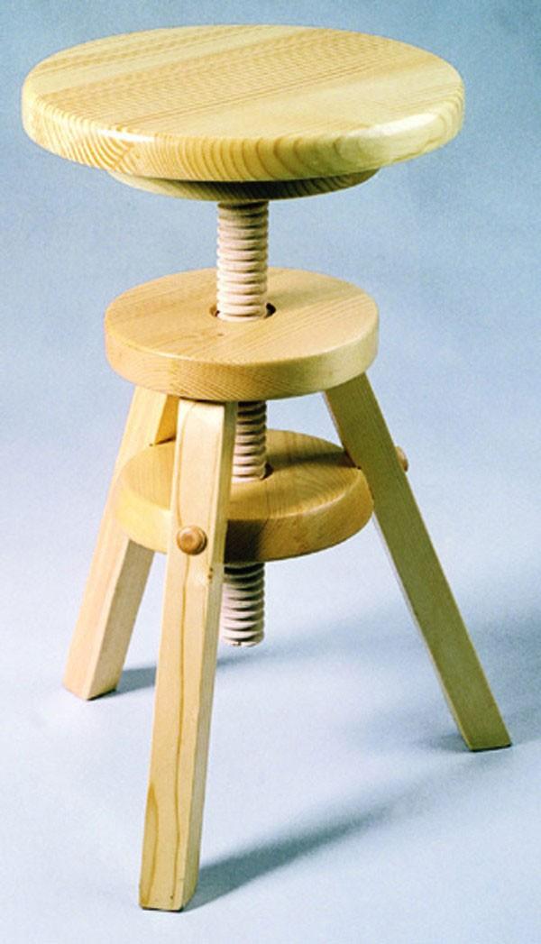 tabouret en bois reglable design en image. Black Bedroom Furniture Sets. Home Design Ideas