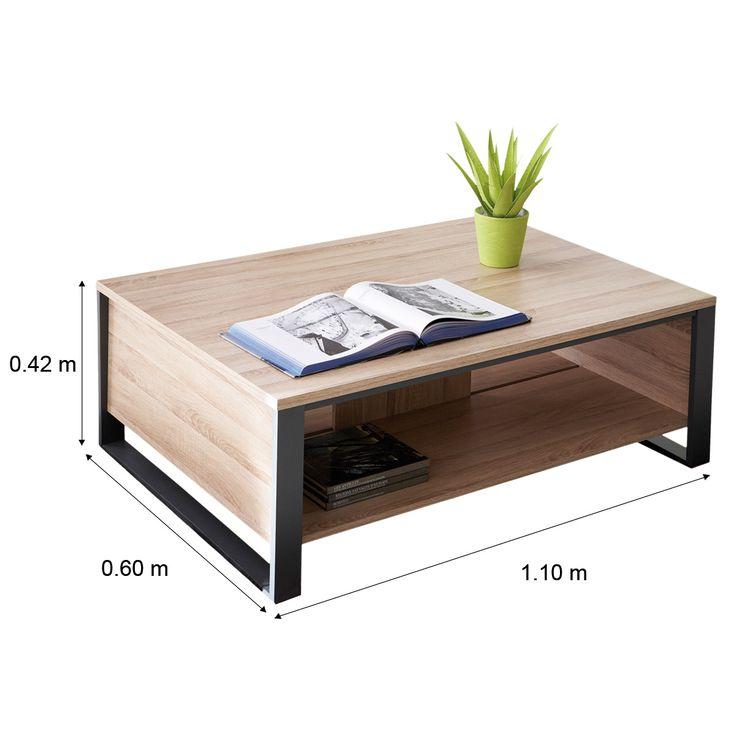table de salon en bois clair design en image. Black Bedroom Furniture Sets. Home Design Ideas
