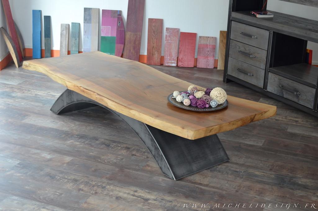 Table basse bois contemporaine design en image - Table de chevet contemporaine design ...