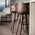 Chaise haute de bar en bois