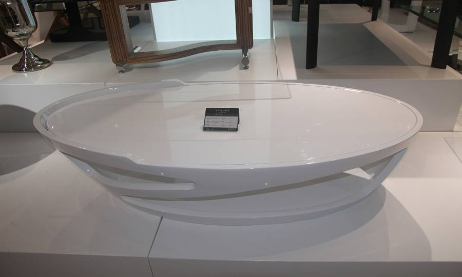 Table Basse Blanche Ovale Design En Image
