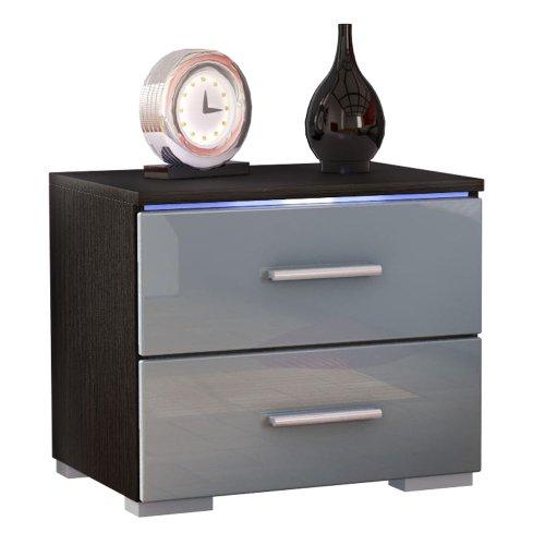 table de chevet design grise design en image. Black Bedroom Furniture Sets. Home Design Ideas