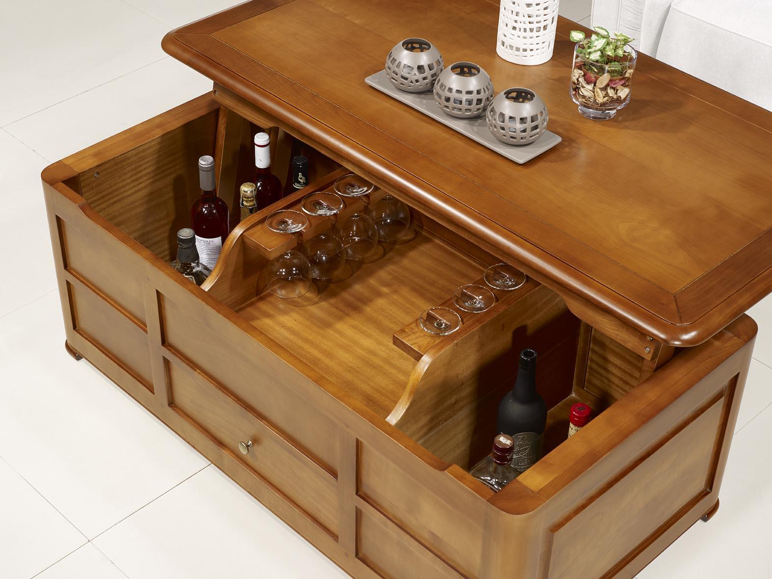 table basse bar en bois design en image. Black Bedroom Furniture Sets. Home Design Ideas