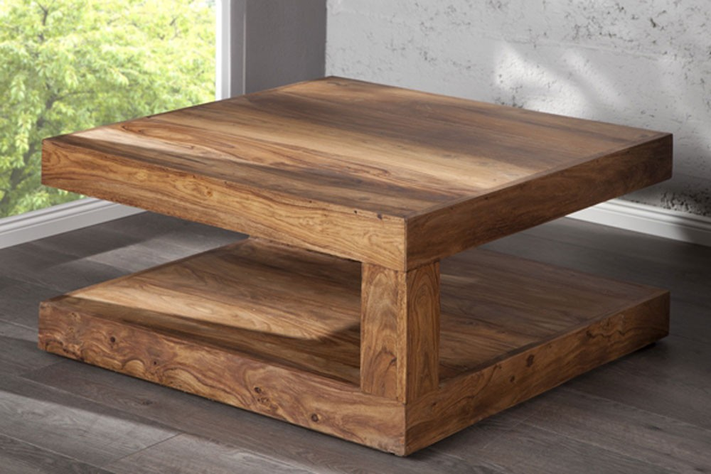 Table basse en bois massif design en image - Table basse bois massif design ...