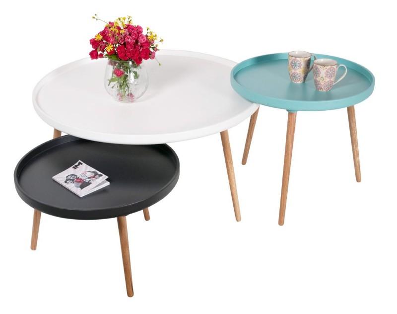 Petite table basse ronde pas cher design en image for Table ronde pas cher