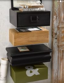 chevet tiroir a suspendre design en image. Black Bedroom Furniture Sets. Home Design Ideas