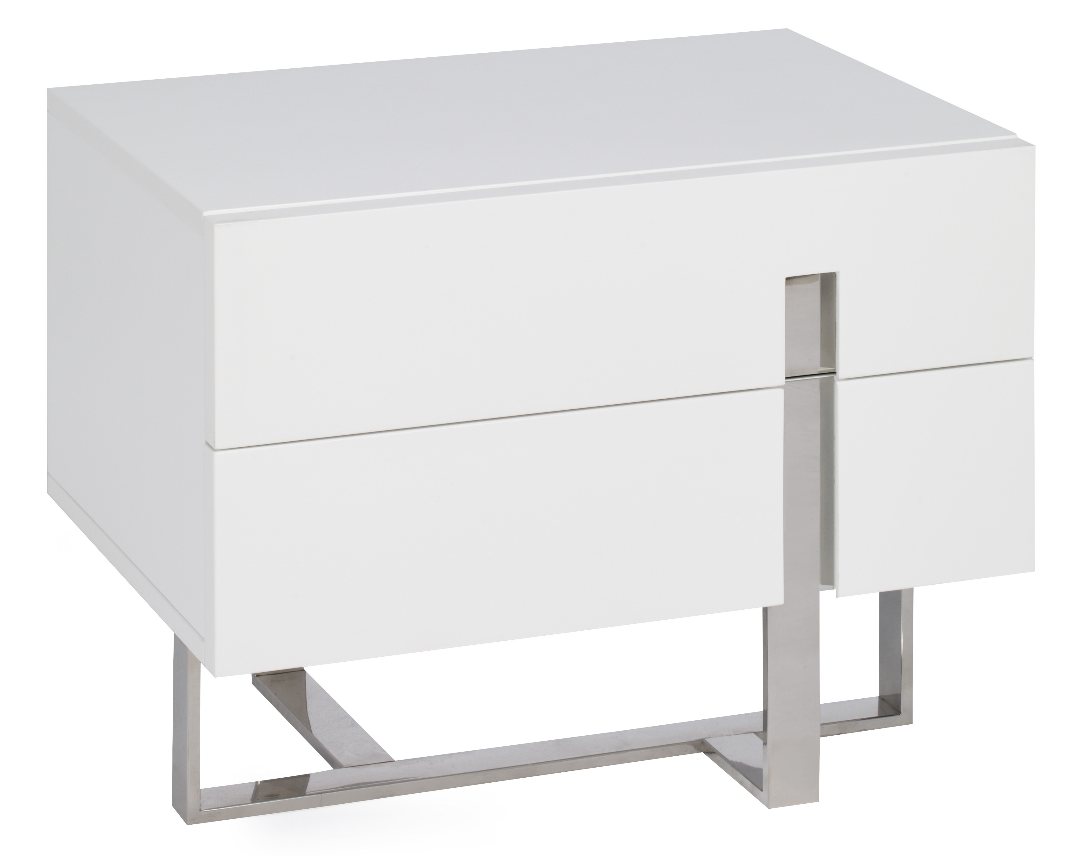 table de chevet design blanc design en image - Table De Chevet Laque Blanc Brillant
