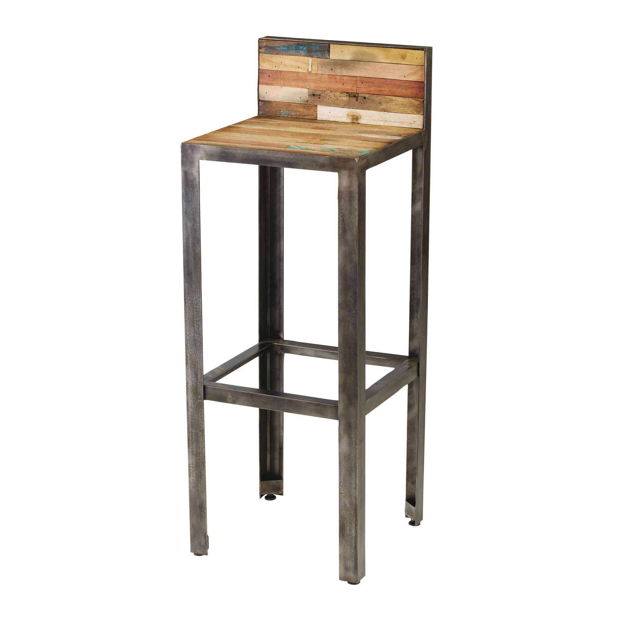 tabouret de bar bois metal design en image. Black Bedroom Furniture Sets. Home Design Ideas