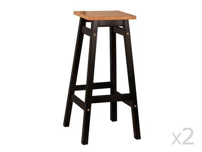 tabouret de bar bois noir design en image. Black Bedroom Furniture Sets. Home Design Ideas