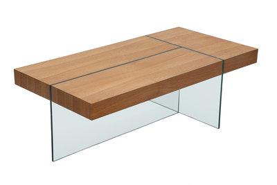 table basse rectangulaire en bois - design en image