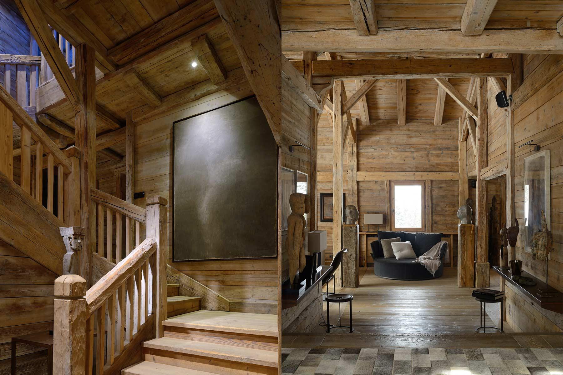 Décoration intérieur chalet bois - Design en image