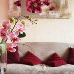 Decoration salon beige et rose