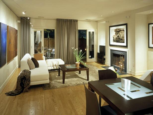 Decoration salon beige et marron - Design en image
