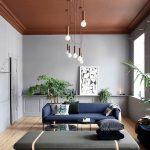 Decoration salon divan gris