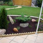 Decoration jardin pouzzolane