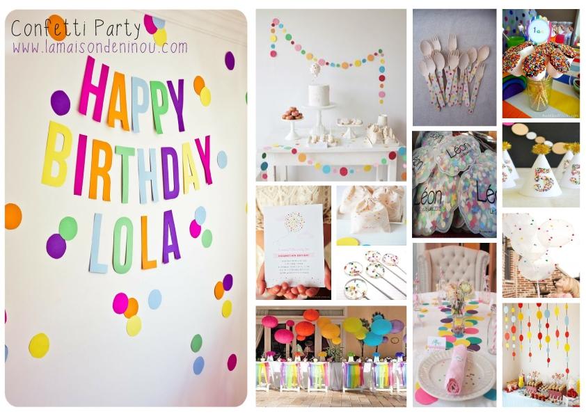 Decoration anniversaire maison