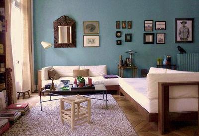 Décoration Salon Avec Canapé Bleu