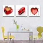Décoration murale rouge cuisine