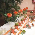 Decoration table de jardin