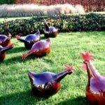 Poule de décoration pour jardin