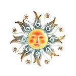 Decoration murale metal soleil