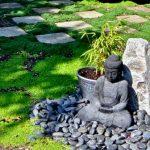 Objets decoration jardin japonais