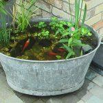 Décoration jardin en zinc