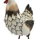 Poules decoration jardin