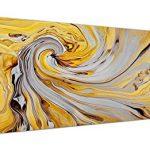Decoration murale jaune et gris