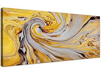 Décoration murale jaune moutarde