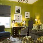 Decoration interieur vert anis