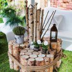 Decoration pour jardin en bois