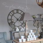 Decoration salon horloge