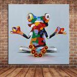 Décoration murale grenouille