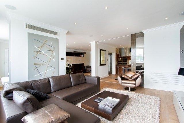 Decoration salon marron - Design en image